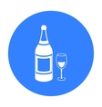 Champagne icon in black style isolated on white vector image vector image