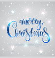 christmas text vector image vector image
