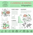 Climbing And Hiking Linear Infographics vector image vector image