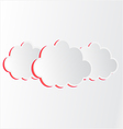 Cloud with pink shadow vector image vector image