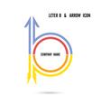 Creative letter B icon logo design vector image vector image