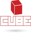 Cube resize vector image