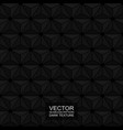 dark seamless polygonal 3d texture - black vector image