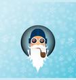 dj santa claus with smoking pipe santa vector image
