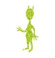 extraterrestrial alien pattern silhouette cosmos vector image