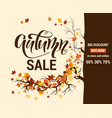 fall advertising banner vector image
