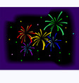 fire crackers vector image vector image
