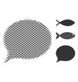 fish halftone hint composition vector image vector image