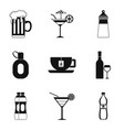 goblet icons set simple style vector image vector image