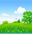 green forest landscape vector image