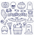 Halloween Patches Set on Squared Paper vector image vector image