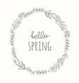 hand drawn spring wreath vector image vector image