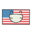 happy american flag cartoon vector image vector image