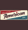 happy labor day america label banners vector image vector image