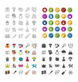 holiday accessories icons set vector image