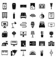 house interior icons set simple style vector image vector image