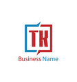 initial letter tk logo template design vector image vector image