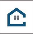 initials c with home or house logo real estate vector image
