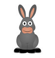 isolated donkey icon vector image vector image