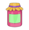 Jam in a glass jar icon cartoon style vector image vector image