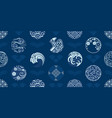 japan seamless pattern tradition vintage vector image vector image