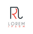 logo between letter r and letter j or rj vector image vector image