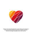 love heart creative logo concepts abstract vector image vector image