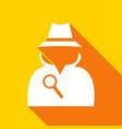 man in suit secret service agent icon a long vector image