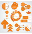 modern set business infographic elements vector image