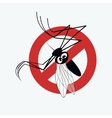 Mosquito warning sign 3 vector image