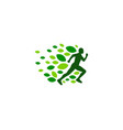 nature run logo icon design vector image
