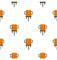 orange boer drill pattern flat vector image vector image