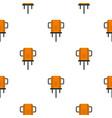 orange boer drill pattern flat vector image vector image