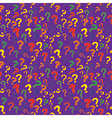 pattern with question marks vector image