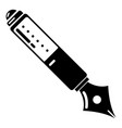 pen icon simple black style vector image vector image