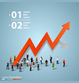 people crowd with a graph vector image vector image