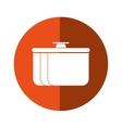 pot food element camping orange circle shadow vector image