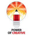 Power of creative vector image vector image