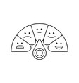 rating customer satisfaction meter vector image