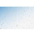 realistic water drops condensed vector image vector image