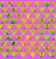 retro pink triangle seamless texture vector image vector image