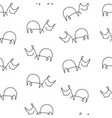 rhinoceros pattern seamless vector image vector image