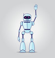 robot character on gray background vector image