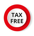 round red icon tax free vector image