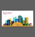 san jose city costa rica architecture silhouette vector image vector image