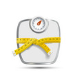 Scales for weighing with the measuring tape vector image