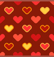 seamless cartoon background with stylized hearts vector image