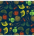 Seamless pattern with hand drawn fruit for vector image vector image