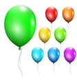 Set of multicolored balloons vector image vector image