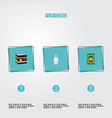 set of religion icons flat style symbols with vector image vector image
